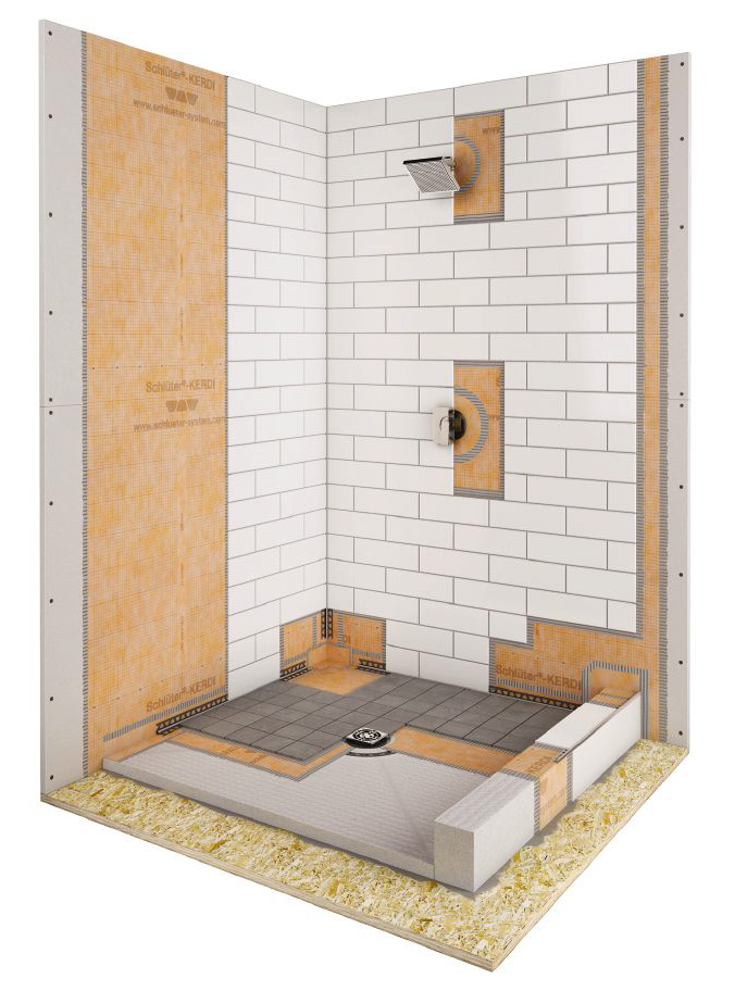 tile shower terra marble products and drain kerdi