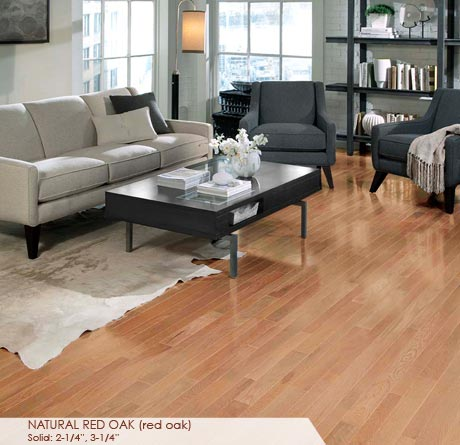 Somerset hardwood flooring made in the usa for Natural red oak floors